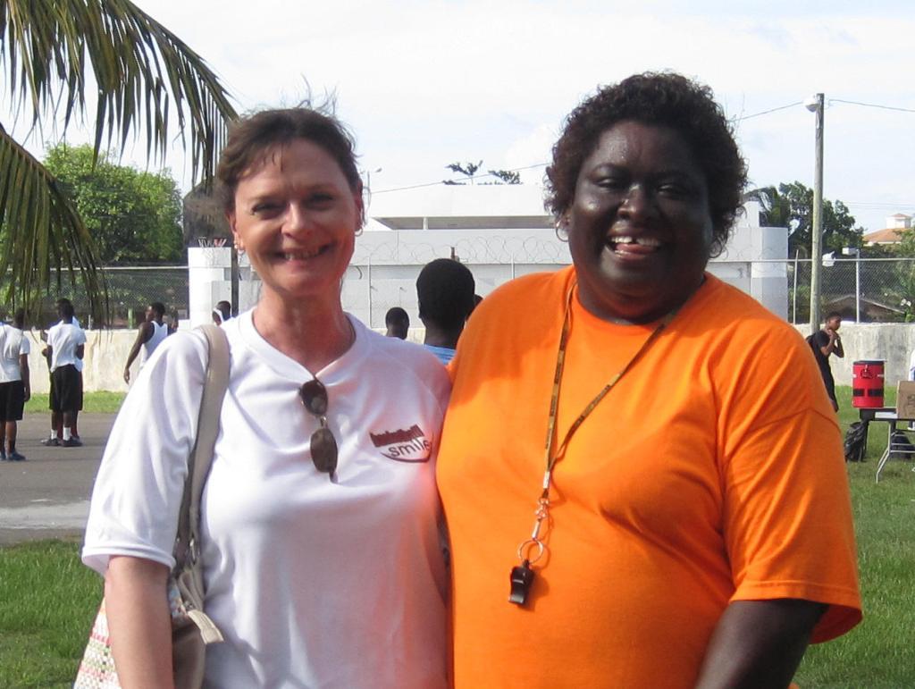 Sandy Nichols and Coach Patty Johnson