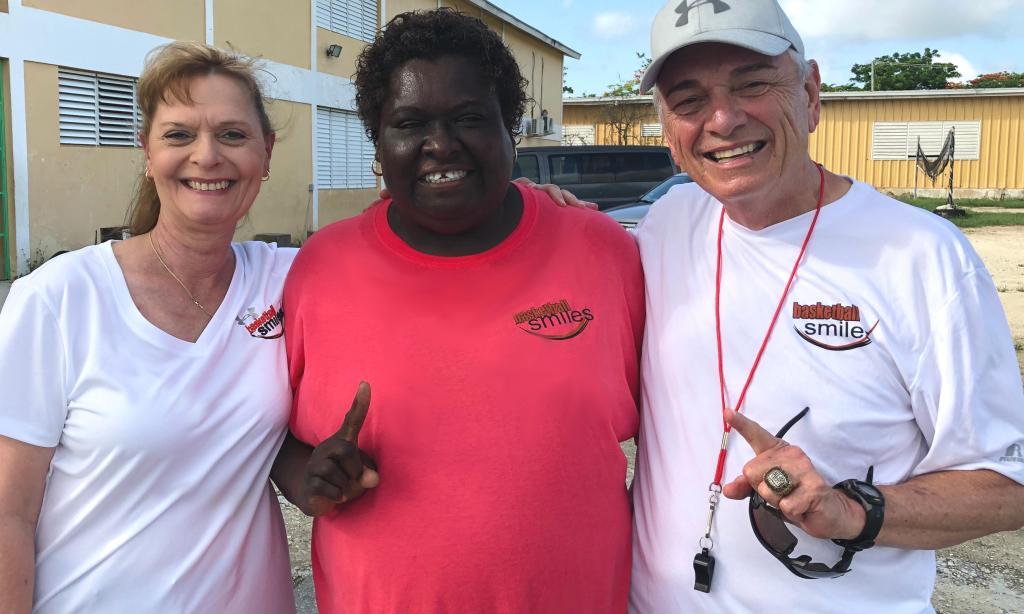 Sandy Nichols, Coach Patty Johnson and Coach Sam Nichols